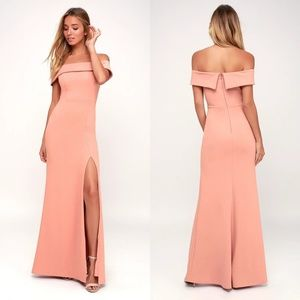 Lulu's Aveline Off-the-Shoulder Maxi Dress
